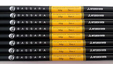 8 BASSARA 50 REGULAR FLEX GRAPHITE IRON SHAFTS MITSUBISHI RAYON 370 Parallel Tip