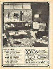 Publicité  1966  ROCHE BOBOIS  magasin de meubles