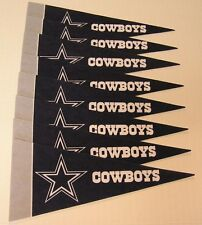 "Dallas Cowboys 4"" x 9"" Mini Pennant Banner Flag Fan Cave Decor 8 Pack Set NFL"