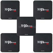 5pcs M9S-PRO Android 6.0 S905X Quad-Core WiFi 4K Smart TV Box H.265 Fully Loaded