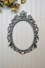Silver Baroque Oval Frame French Style Open back Ornate Wedding Portrait Nursery