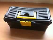 "13"" Strong Durable Plastic Tool Box Case DIY Hobby Storage Tote Tray"
