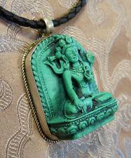 Wunderschön! BUDDHA AMULETT Weiße Tara TÜRKIS aus Nepal
