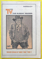 Richard Crenna HONKY TONK Bergen County NJ Record TV Week guide Mar 31 1974