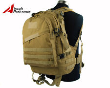 US Army Hunting 3Day Molle Tactical Assault Backpack Camping Hiking Bag Tan
