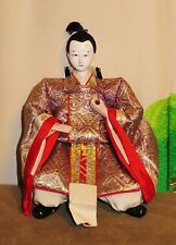 """Antique Pre-1920 Japanese Seated 5.5"""" Male Attendant Hina Doll #AAD4161415.8"""