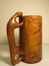 ANTIQUE SWEDISH AMERICAN FOLK ART WOOD BURL CARVING EARLY OUTSIDER ART RARE VT