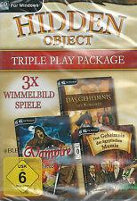 CD-ROM + Hidden Object + TRIPPLE Play package + 3 scrutare giochi + Win 8