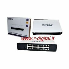 HUB SWITCH TENDA 16 PORTE S16 ETHERNET SDOPPIATORE RETE LAN 100M NETWORKING