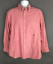 Tommy Hilfiger Red Original Oxford Long-sleeve Buttondown Cotton Shirt Size L