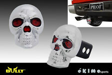 "BULLY SKULL 1.25"" & 2"" TRAILER TOWING HITCH RECEIVER COVER WITH LED BRAKE LIGHT"
