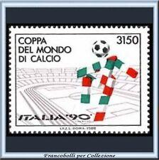1988 Repubblica Italia Coppa del Mondo di Calcio Italia '90 Mondiali Nuovo **