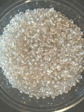50g glass seed beads - Silver Silver-Lined - approx 3mm (size 8/0) aka Clear S/L