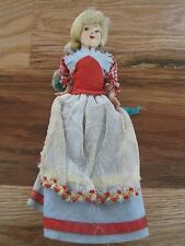 German or Swiss Doll  8 inches Vintage Paper Head