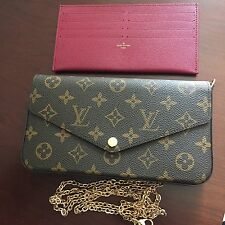 Auth Louis Vuitton Pochette Felicie Monogram Cross body/shoulder/Clutch