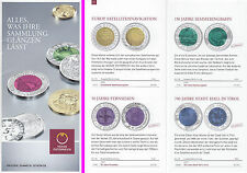 BROSCHÜRE ZU ALLEN ÖSTERREICH. 25 EURO NIOB - MÜNZEN 2003 - 2012 # KEINE MÜNZEN!