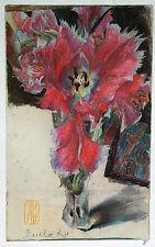 """Horst Janssen""""Basel-Rot""""Farboffset nach einer Zeichnung von 1982-60x35 cm-Monogr"""