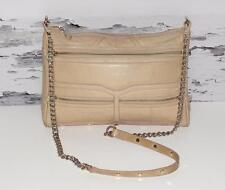 REBECCA MINKOFF~TAUPE NUDE~PEBBLED LEATHER *GOLD CHAIN* COCKTAIL SHOULDER BAG