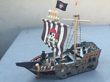 Pirate Ship Construction Kit Wood - Kids Wooden Model Game Building Toy Figures