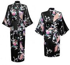 New Silk Short/long Wedding Bride Bridesmaid Robe Women Floral Bathrobe Kimono #