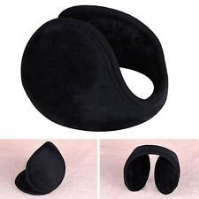 Unisex Black Earmuff Winter Ear Muff Wrap Band Warmer Grip Earlap Gift  Fashion
