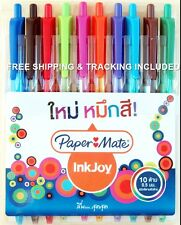 Ballpoint Pen Assorted 10 Color Paper Mate Inkjoy 100 Retractable XF 0.5 mm