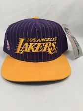 VINTAGE DS NWT LOS ANGELES LAKERS SPORTS SPECIALTIES SCRIPT SNAPBACK HAT LA CAP