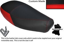 RED & BLACK CUSTOM FITS PIAGGIO VESPA ET2 ET4 125 DUAL LEATHER SEAT COVER