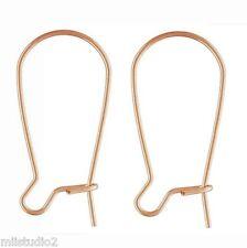 10pcs 14k Rose Gold Filled Kidney Earring ear wire 23mm 21.5 gauge wire E27rg
