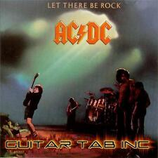 AC/DC Guitar Tab LET THERE BE ROCK Lessons on Disc Angus Young