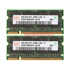 Hynix 4GB 2X 2GB 2RX8 PC2-6400S DDR2-800 Sodimm Laptop Memory RAM For Apple iMac