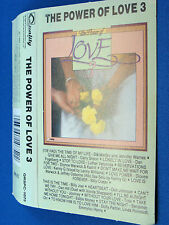 THE POWER OF LOVE 3 - Assorted Artists - 16 HITS - VG++ CASSETTE - CANADA
