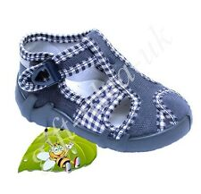 BOYS CANVAS SHOES * NURSERY TODDLER SLIPPERS SANDALS TRAINERS SIZE UK3 = EU19