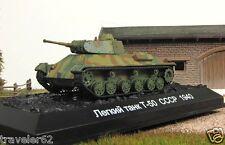 T-50 1:72 Soviet light tank 1940 WW II Fabbri model & magazine № 14