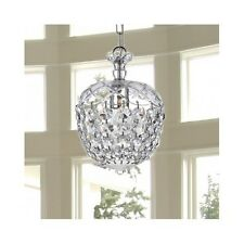 Crystal Chandelier Small Ceiling Pendant Modern Lighting Fixture Foyer Dining Rm