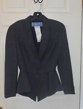 WOMEN'S THIERRY MUGLER PARIS GRAY BLAZER JACKET SIZE 36