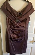 CACHET NWT Womens Java Rouched Dress With Broach Size 16 Wedding Evening RV$180