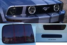 05-09 Mustang GT Complete lighting overlay package - Precut Tail Head Fog Smoke