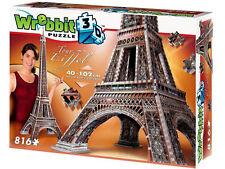 Eiffel Tour Building Wrebbit 3D Puzzle 816 Pieces