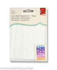 Cosmo Cricket Just Add Watercolor Tags 6pk