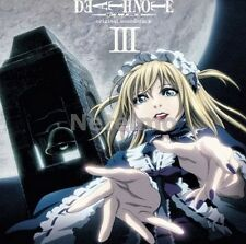 New 0821 DEATH NOTE Original Soundtrack CD Version Ver. Limited Edition 3 III