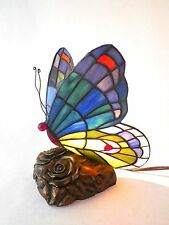 Quoizel Tiffany Stained Glass Butterfly Desk Table Lamp Light  TF6597R MINT