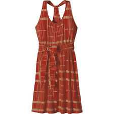 XL Patagonia Kiawah Island Wrap Dress Sundress Tie Waist Orange Turkish Red NWT