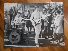 "Old Vintage Picture Photo THE WHO Band &Fans 14 1/2"" 11"" page from book Townsend"