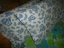 CHF INDUSTRIES BLUE & WHITE FLORAL PARCHMENT (PAIR) STANDARD PILLOWCASES 19 X 29