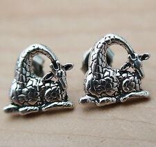 Giraffe Earrings - 925 Sterling Silver Post Earrings Stud NEW