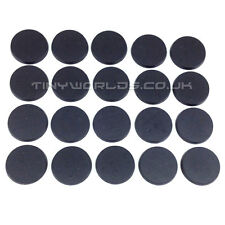 20 x 30mm Round Black Plastic Bases - Wargaming Warhammer 40k 40000 32mm