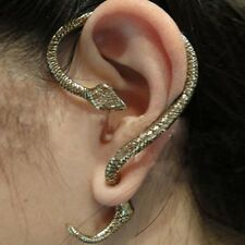 Sexy Women Men Lady Metallic Punk Halloween Gothic Snake Cool Earring One Side