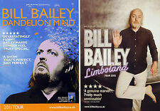 4 X BILL BAILEY COMEDIAN TOUR FLYERS - DANDELION MIND 2011 - LIMBOLAND 2015