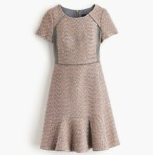 NWT J. Crew metallic mixed-tweed dress 8
